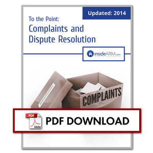 Thumbnail - To the Point: Complaints and Dispute Resolution (UPDATED July 2014)