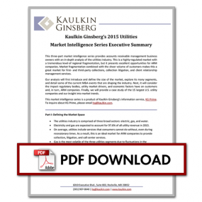 Kaulkin Ginsberg's 2015 Utilities Market Intelligence Series Executive Summary Thumbnail