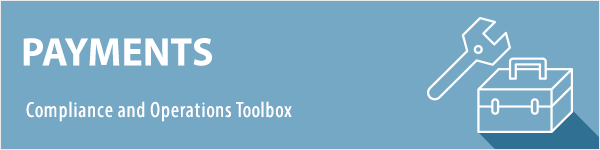 Payments Toolbox Header