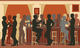 Animated image of people talking around a bar [Image by creator Adrian Hillman from AdobeStock]