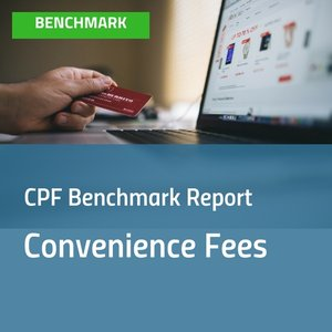Cover image for Convenience Fees Benchmark report with image of person looking at a laptop and holding a credit card [Image by creator insideARM from ]