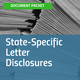 Cover of State-Specific Letter Disclosures document packet, with image of large stack of folded documents [Image by creator insideARM from ]