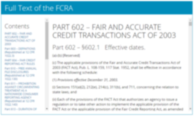 FCRA Resource Page Preview